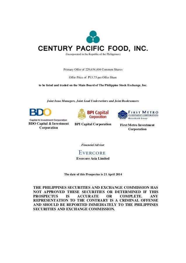 (Incorporated in the Republic of the Philippines) Primary Offer of 229,654,404 Common Shares Offer Price of ₱13.75 per Off...