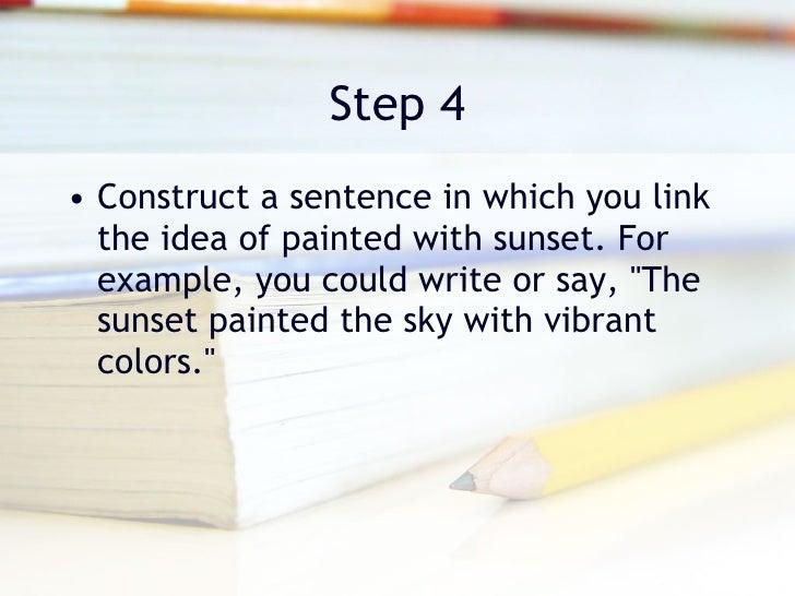 how to write a metaphor sentence