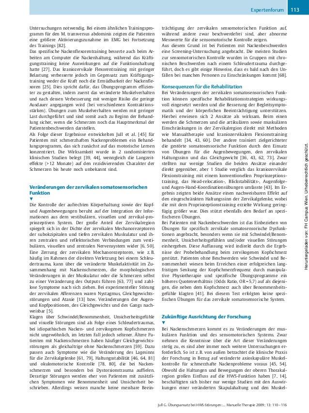 Untersuchungen notwendig. Bei einem ähnlichen Trainingspro- gramm für den M. transversus abdominis zeigten die Patienten e...