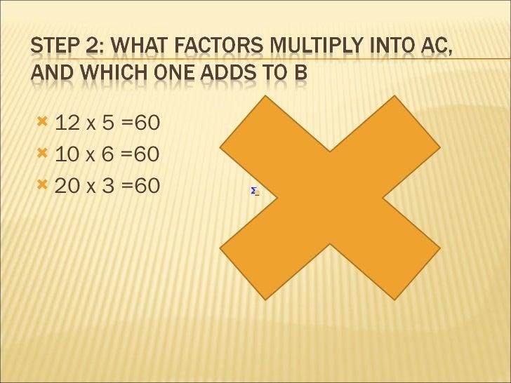 Hw to factor Slide 3