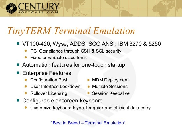 Best-of-Breed Terminal Emulation for iOS & Android Mobile