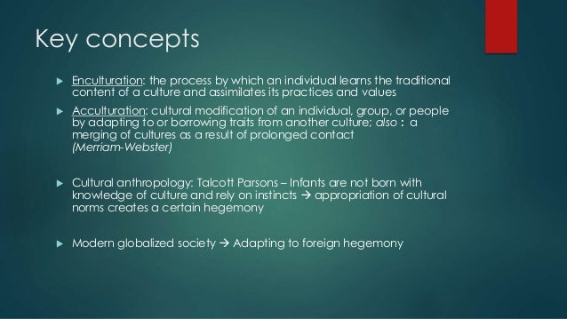 enculturation process