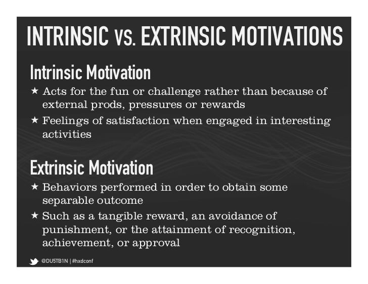 Extrinsic Vs Intrinsic Motivation Motivational Dynamics ...