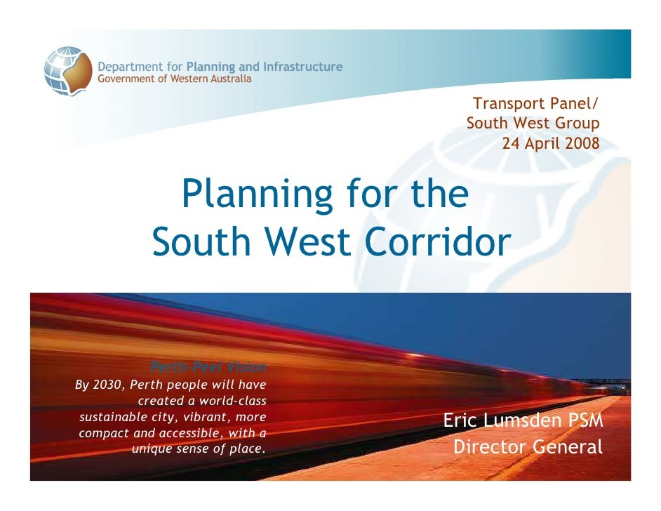 Transport Panel/                                      South West Group                                          24 April 2...