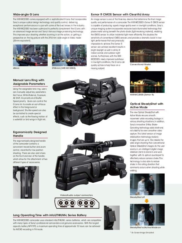 Sony hxr mc2000e инструкция