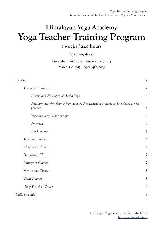 Yoga Teacher Training Program                                            from the creators of the Free International Yoga ...