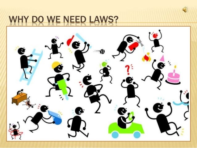 why do we have laws in I like how eric puts it the laws we create reflect our best understanding of more fundamental laws, according to which the universe exists example fundamental law.