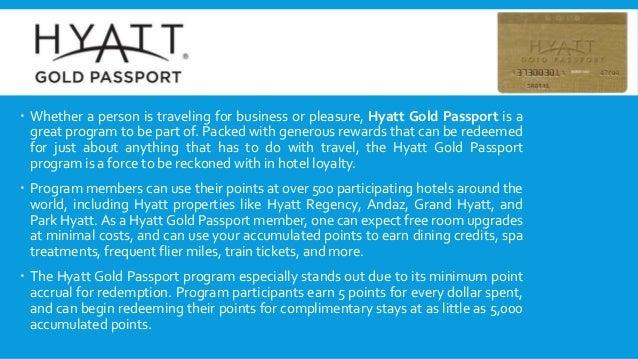Hyatt Loyalty program- Gold Passport- Rachad aga Slide 3