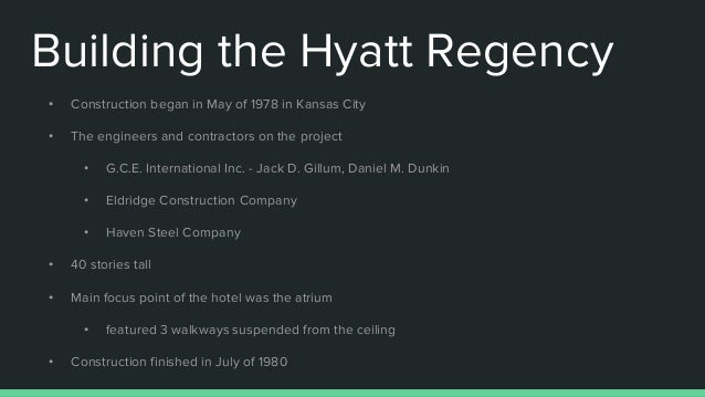 ethical disaster of the hyatt regency The disaster that changed engineering - hyatt regency walkway failure march 18, 2017 by grady hillhouse i was thrilled to have a guest spot on tom scott's channel to discuss the hyatt regency walkway collapse and the relationship between a society and its engineers.