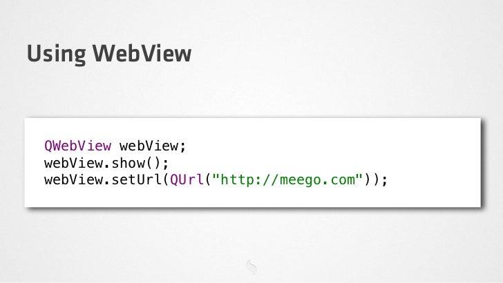 Hybrid Apps (Native + Web) via QtWebKit