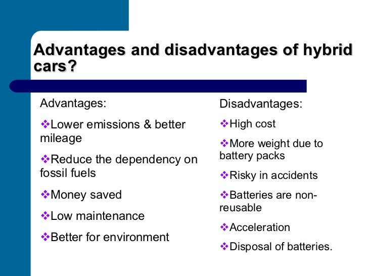 Top 5 Advantages and Disadvantages of Hybrid Cars - Oards.com