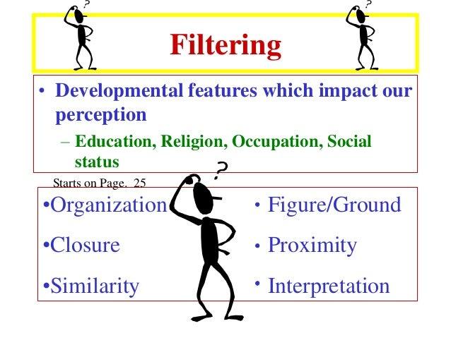 How do all five sense impact perception