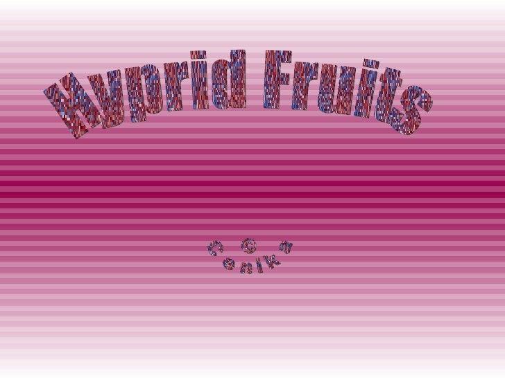 Hyprid Fruits © Cenika