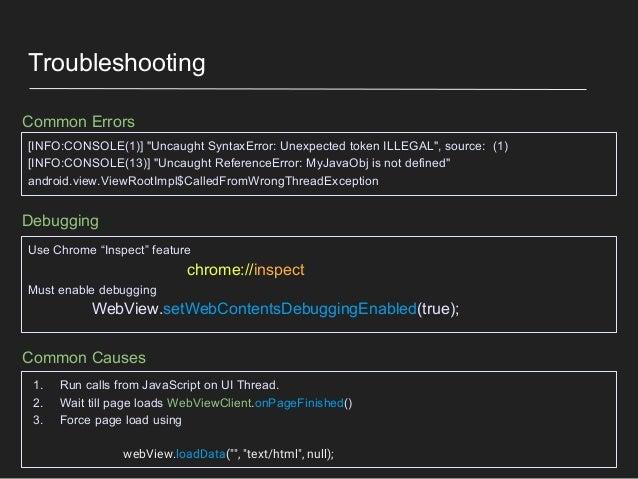 Hybrid apps: Java conversing with JavaScript