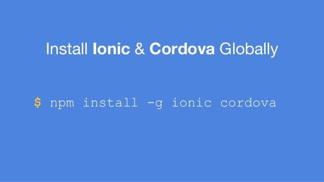 Hybrid Apps with Angular & Ionic Framework