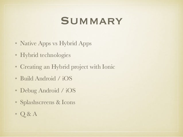 Creating an hybrid app in minutes with Ionic Framework Slide 2