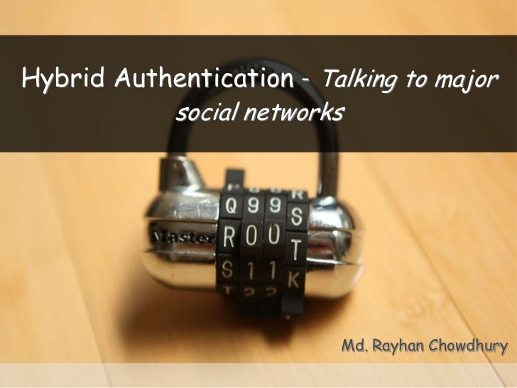 Hybrid Authentication - Talking to major            social networks                          Md. Rayhan Chowdhury
