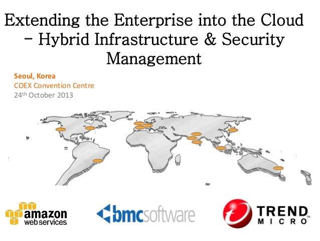 Extending the Enterprise into the Cloud - Hybrid Infrastructure & Security Management Seoul, Korea COEX Convention Centre ...
