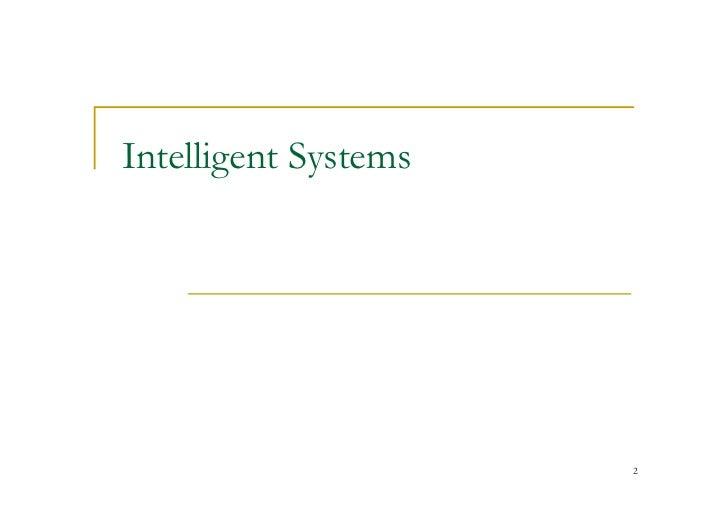 Intelligent Technology Systems