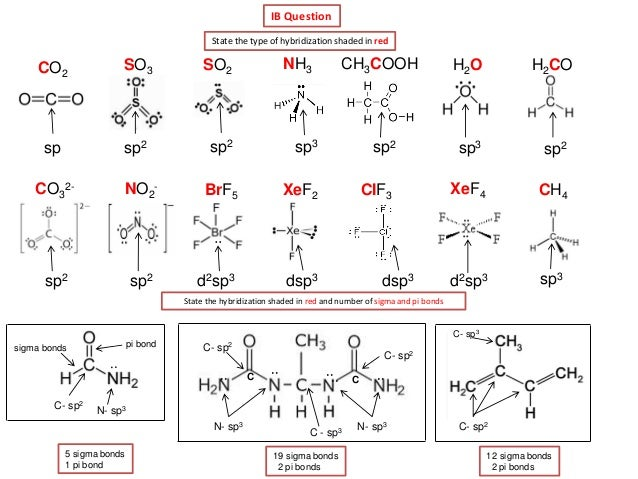 28 Best - Hybridization Types - valence bond theory sp2 ...
