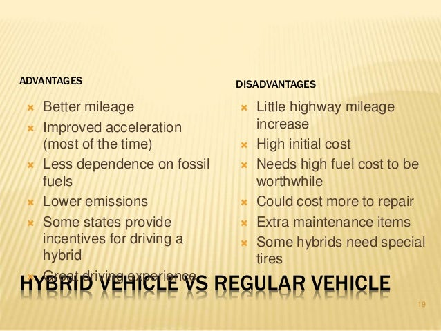 benefits of hybrid cars essay What is a hybrid car financial benefits: hybrid cars are supported by many credits and incentives that help to make conserve energy future all rights.