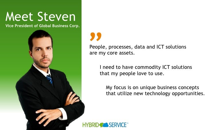 "Meet StevenVice President of Global Business Corp.                                          ""                             ..."
