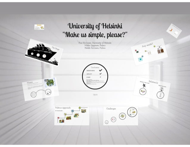 Palmu - Service design in a highly complex public organization - case University of Helsinki
