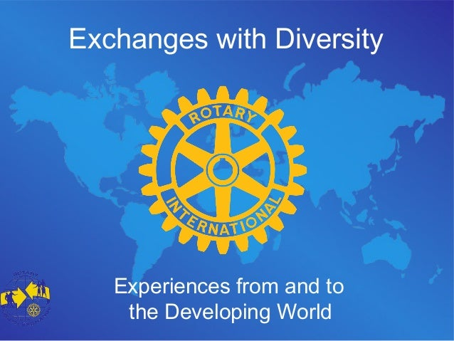 Exchanges with Diversity Experiences from and to the Developing World