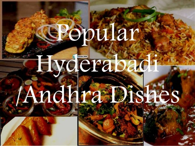 Hyderabadi and andhra cuisine for Andhra cuisine dishes