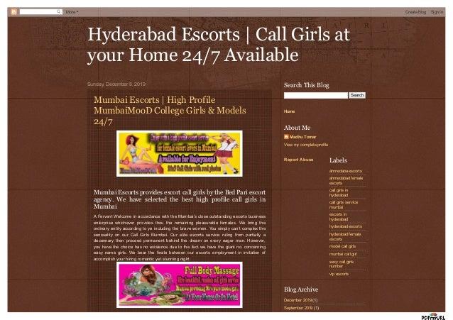 Hyderabad Escorts | Call Girls atHyderabad Escorts | Call Girls at your Home 24/7 Availableyour Home 24/7 Available Sunday...