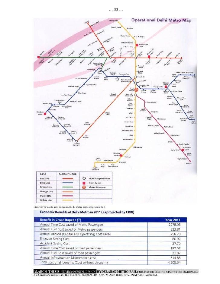 Impact of public transport on Delhi