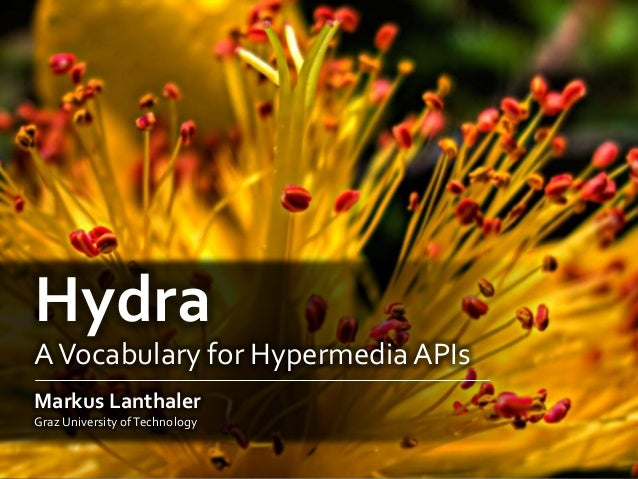 HydraAVocabulary for HypermediaAPIsMarkus LanthalerGraz University ofTechnology