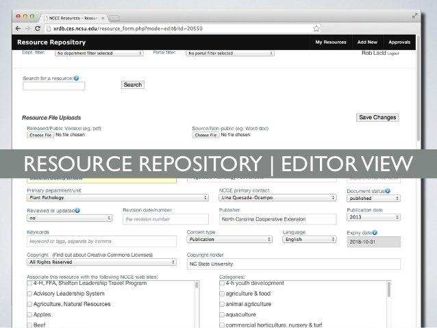 RESOURCE REPOSITORY | EDITORVIEW