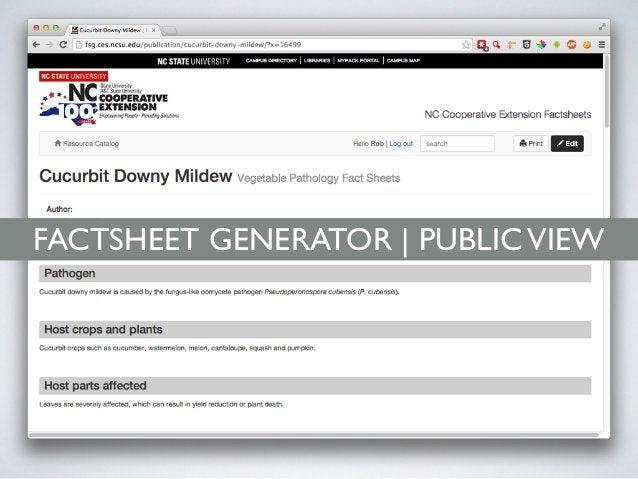 FACTSHEET GENERATOR | MOBILE