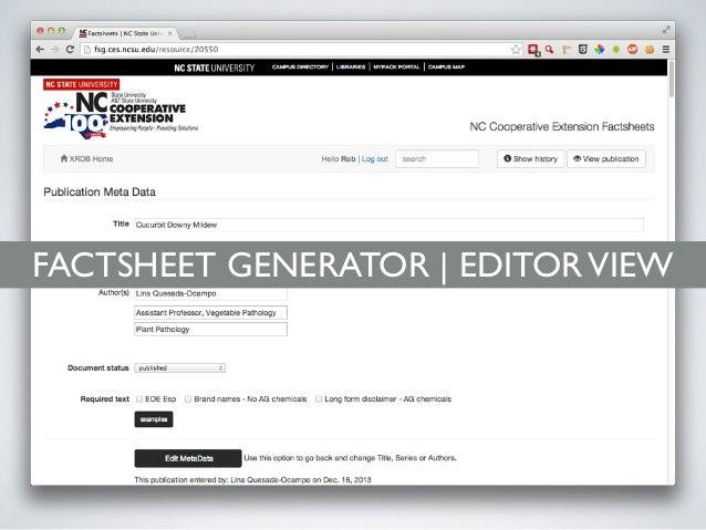 FACTSHEET GENERATOR | EDITORVIEW