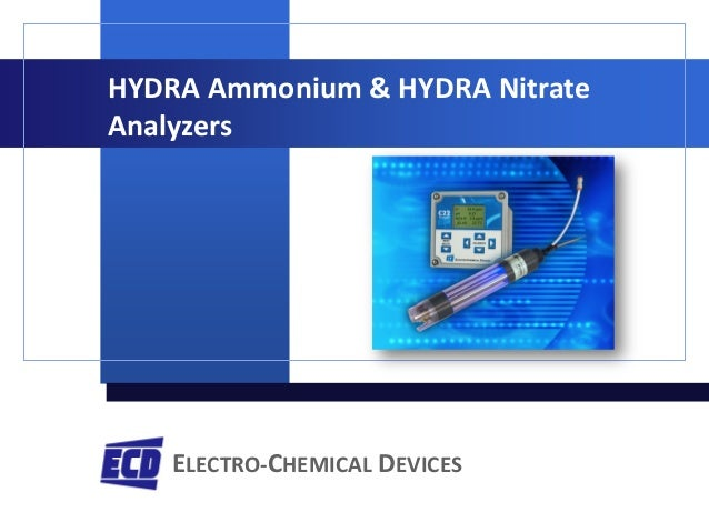 ELECTRO-CHEMICAL DEVICES HYDRA Ammonium & HYDRA Nitrate Analyzers