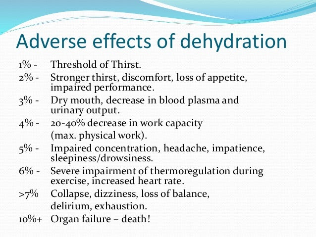 Hydration and the role of Sports Drinks