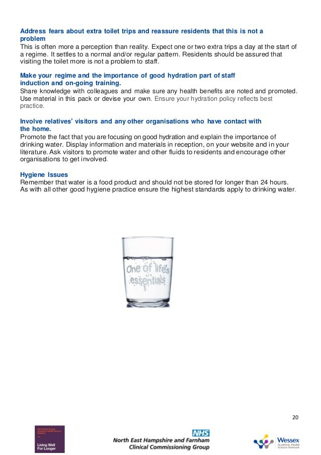 Toolkit: improving hydration among older people