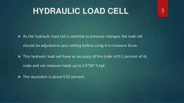 Hydraulic And Pneumatic Load Cells