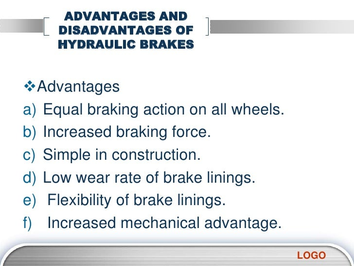 advantages and disadvantages of hydraulic system pdf