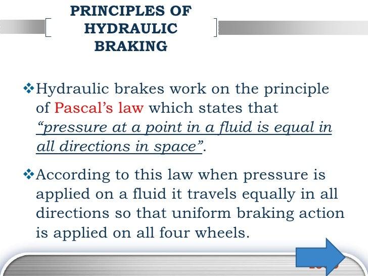 hydraulic press working principle pdf