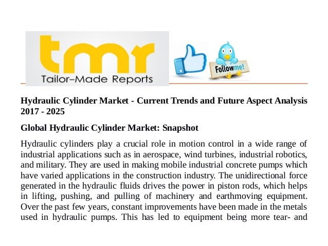 Hydraulic Cylinder Market - Current Trends and Future Aspect
