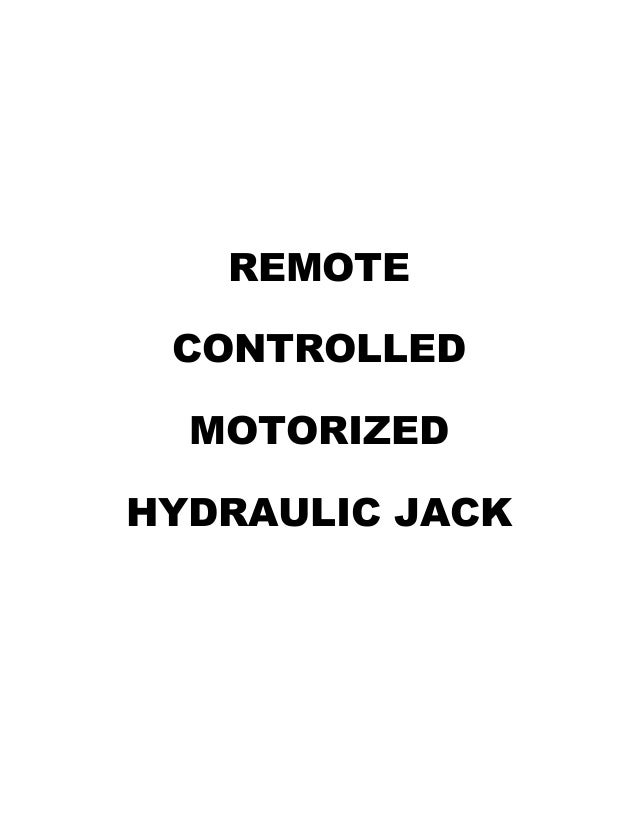 571ca6d52b Hydraulic jack motorised remote 2015