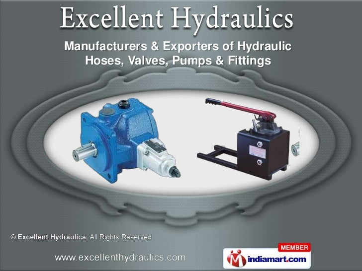 Manufacturers & Exporters of Hydraulic   Hoses, Valves, Pumps & Fittings