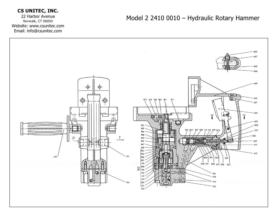 schematic for hydraulic jack hammer