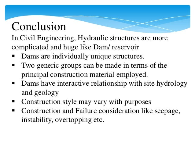 Hydraulics structures