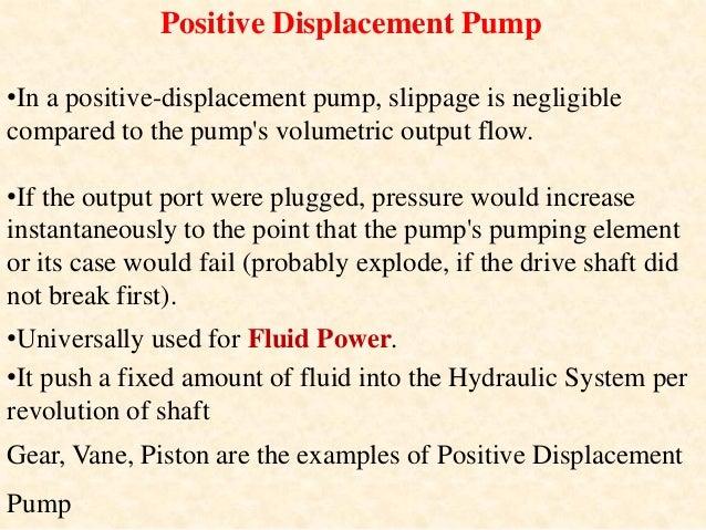 Classification of Positive Displacement Pumps 1. Gear Pumps a. External gear pumps b. Internal gear pumps c. Lobe pumps d....