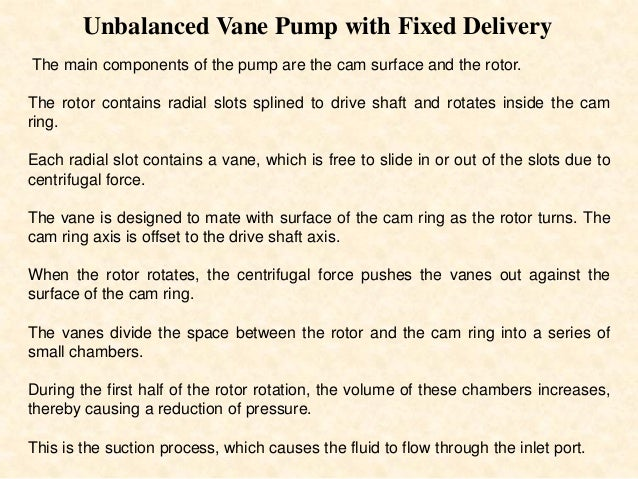 SWASH PLATE PISTON PUMP • The cylinder block and drive shaft are located on the same centerline. The pistons are connected...