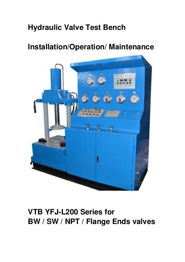 Hydraulic Test Equipment : Hydraulic valve test benches