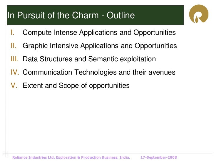 In Pursuit of the Charm - OutlineI.    Compute Intense Applications and OpportunitiesII. Graphic Intensive Applications an...